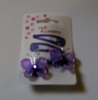 Set of butterfly sleepie clips and ponio bobbles (Code 0088)